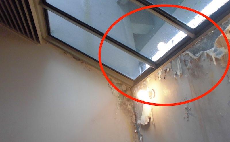 天窓からの雨漏れ