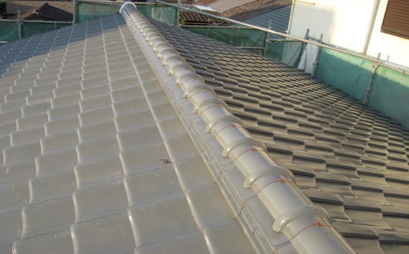 屋根葺き替え工事完了後の屋根(瓦)の状態