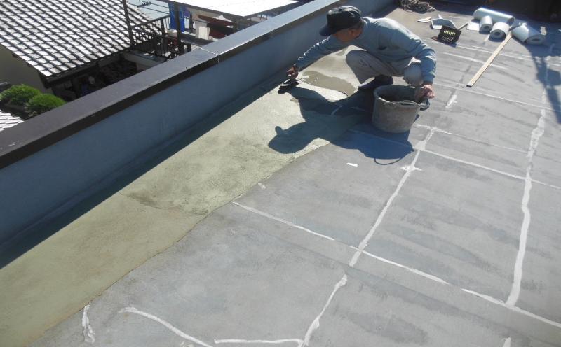 塩ビシート防水機械的固定法(機械的固定法)補修