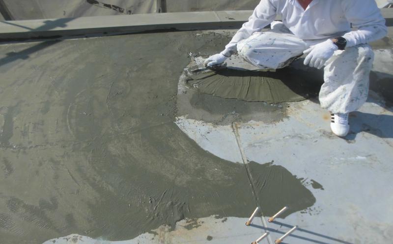 ウレタン防水防水の通気下地の調整
