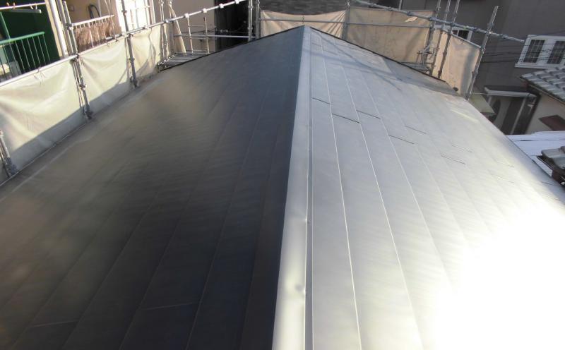 屋根(カバー工法)工事後の屋根(瓦)の状態