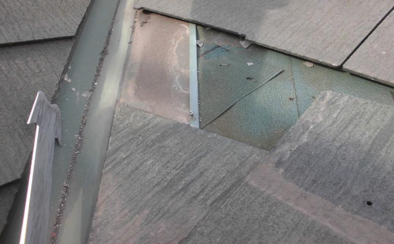 下地の破損しているカラーベスト